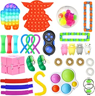 30 Pack Sensory Toys Set, Relieves Stress and Anxiety Fidget Toy for Children Adults , Special Toys Assortment for Birthday Party Favors, Classroom Rewards Prizes