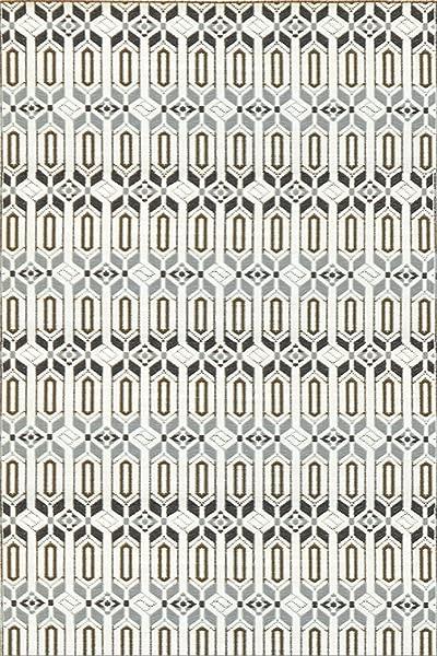 Mad Mats Moroccan Indoor Outdoor Floor Mat 6 By 9 Feet Cool Silver