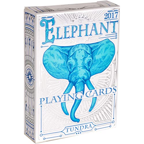 Elephant Playing Cards – Beautiful Deck of Cards, Hand Illustrated Poker Cards with Custom Faces. Incredible Foil and Intricate Detail Makes Them Great Gifts for Kids and Adults