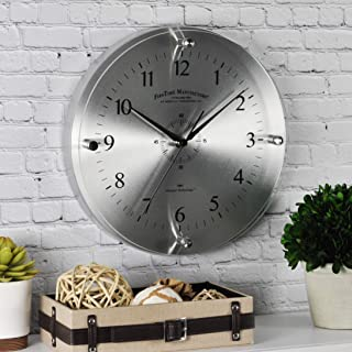 FirsTime & Co. Steel Whisper Wall Clock, 10.5