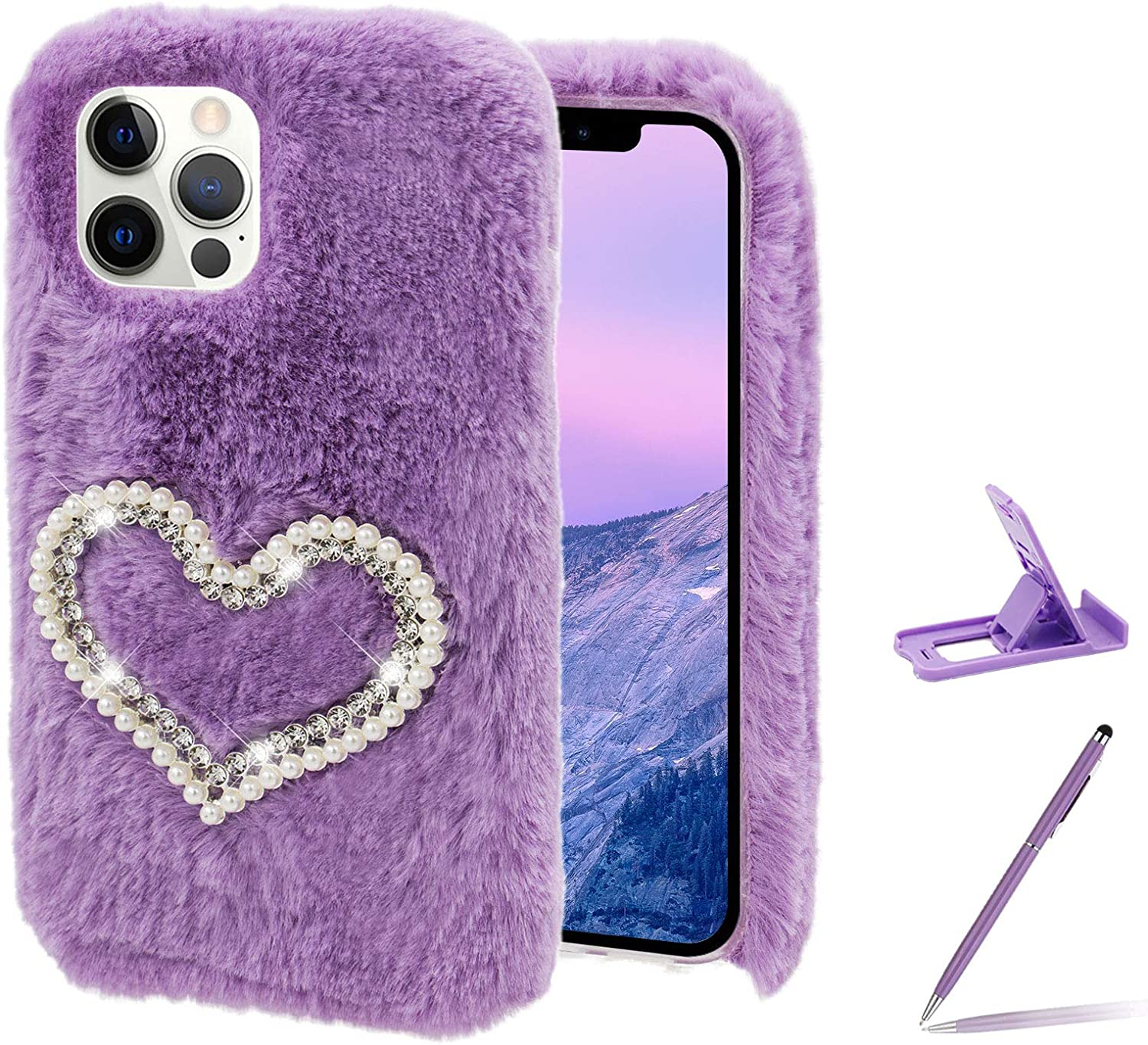 overseas Ranking TOP6 Herzzer Stylish Winter Warm Plush Furry for Stylo Cover LG 6
