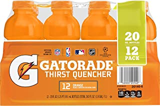 Gatorade Thirst Quencher, Orange, 12 Count, 20 oz Bottles
