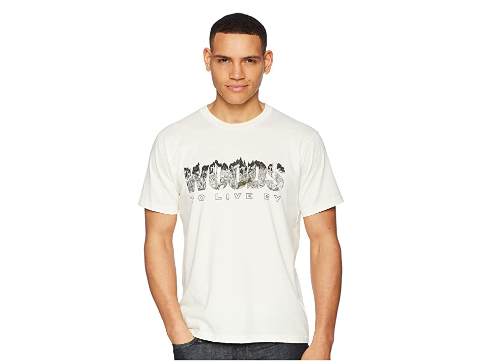 Toad&Co Woods To Live By Short Sleeve Tee (Natural Heather) Men
