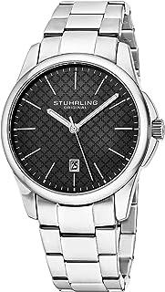 ساعة سيمفوني للرجال بسوار من الستانلس ستيل ومينا سوداء من ستيرلينج اوريجنال طراز 3970.1