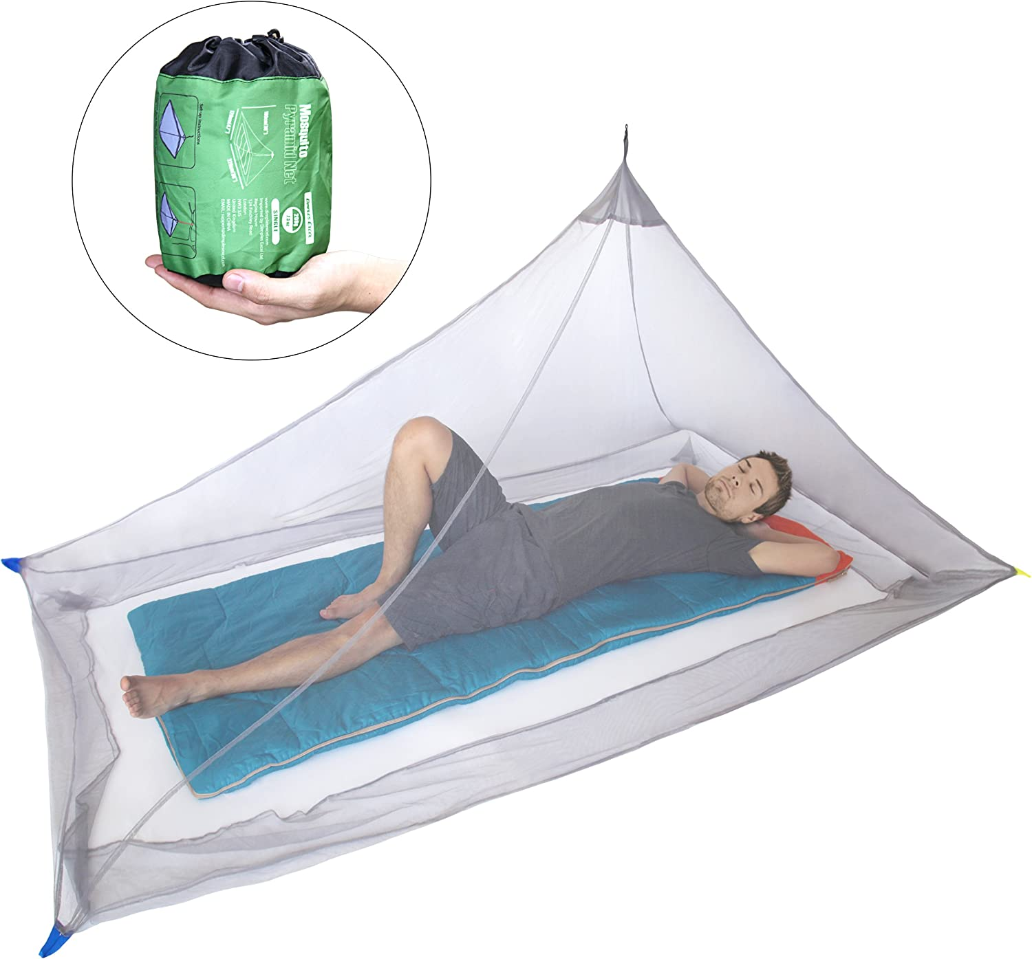 Mosquito Net for Single Camping Bed Compact and Lightweight
