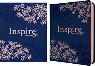 NLT Inspire Bible (Hardcover LeatherLike, Navy)