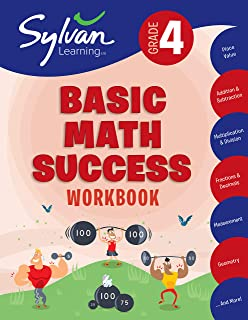 4th Grade Basic Math Success Workbook: Place Value, Addition and Subtraction, Multiplication and Division, Fractions and D...