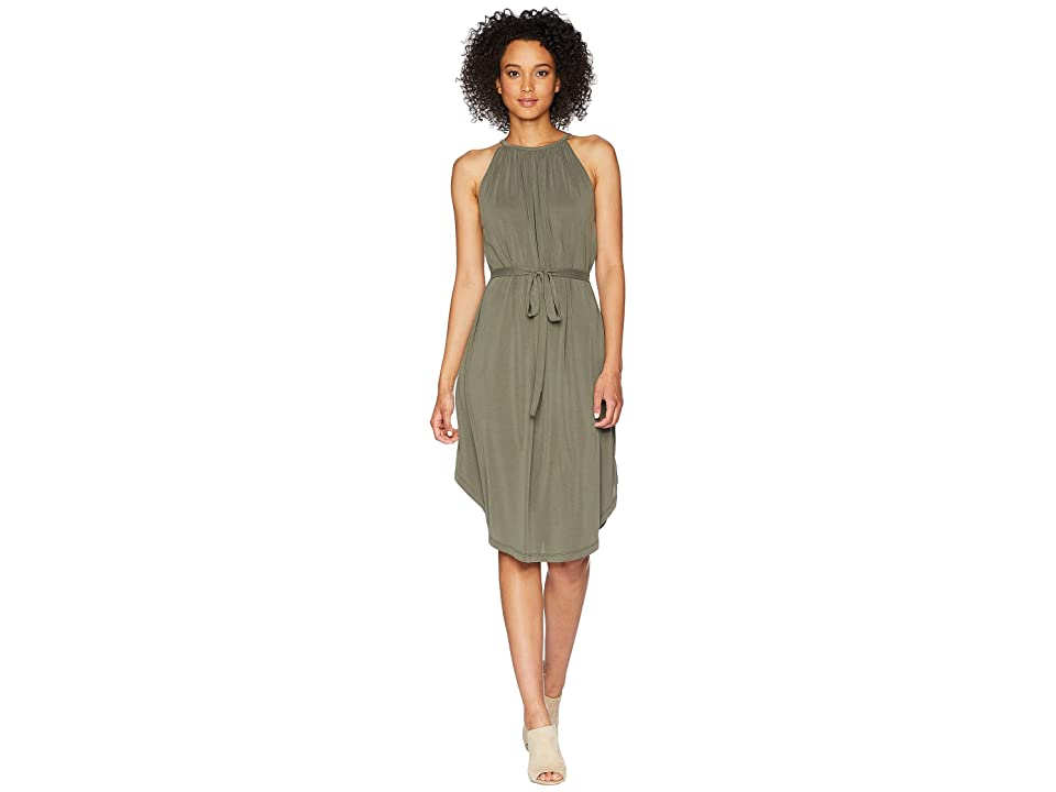 Lucky Brand Halter Neck Dress (Olive) Women