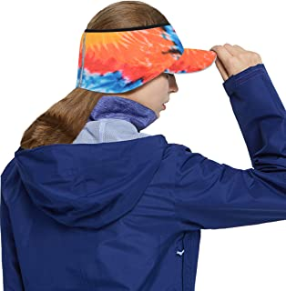 alvon Women Ponytail Fleece Brim Headband, Men Fleece Earflap Hat, Running Ski Windproof Warmer Ear Cover