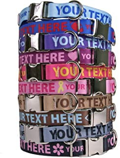 Personalized Premium Dog Collar with Metal Clasp - Made in The USA - Available in 20 Colors + Multiple Sizes