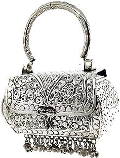 Trend Overseas Girls/Women Small Size Handle Clutch Brass metal bag Ethnic clutch