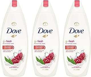 Dove Go Fresh Revive Body Wash, Pomegranate and Lemon Verbena, 22 Ounce (Pack of 3)