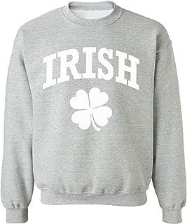 Pekatees Irish Clover Sweatshirt Lucky Irish Clover Sweater for St. Patrick's