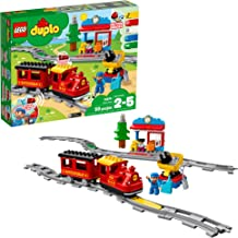 LEGO DUPLO Steam Train 10874 Remote-Control Building Blocks Set Helps Toddlers Learn, Great Educational Birthday Gift (59 Pieces)