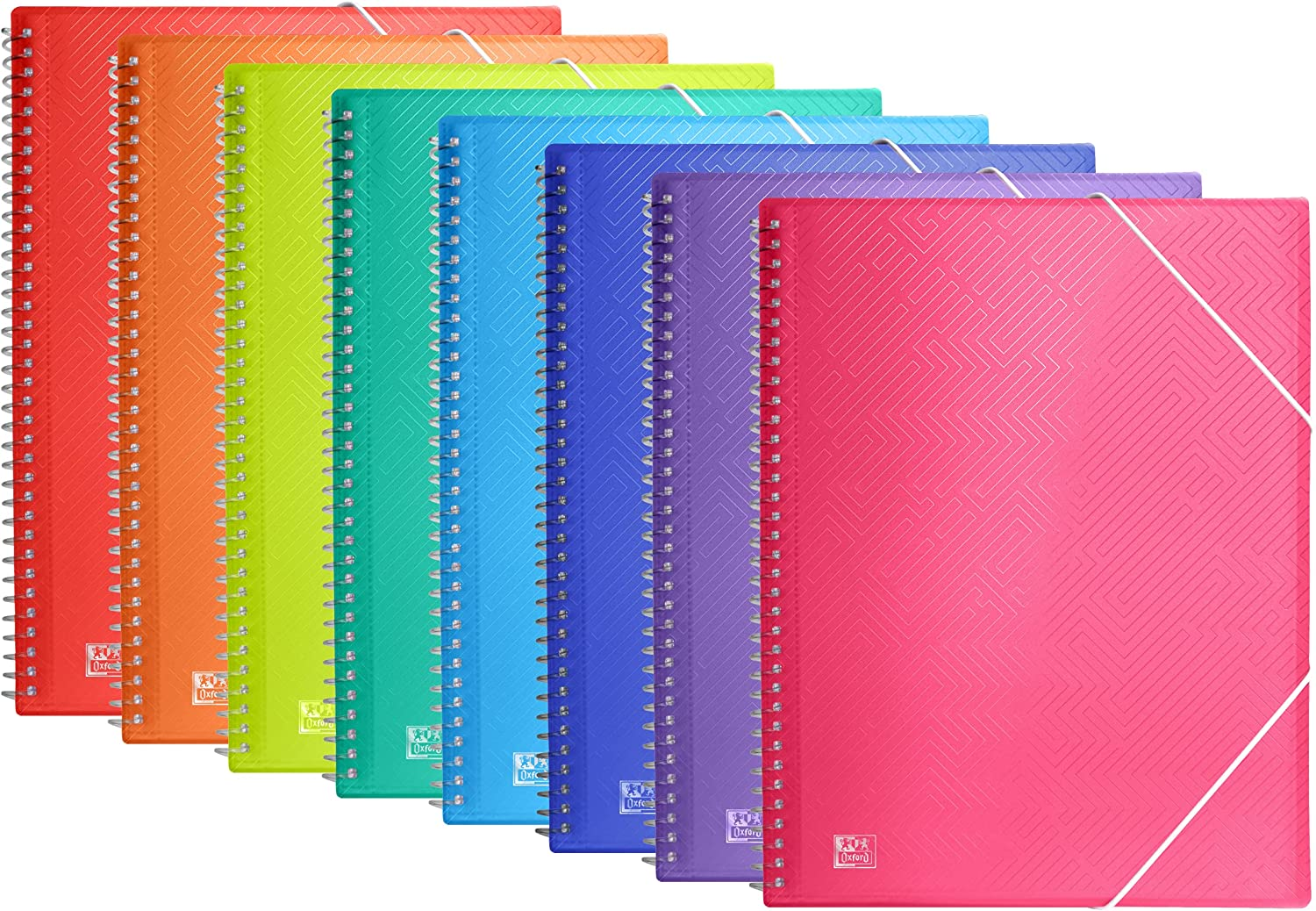 Oxford 10 Pack 2021 depot A4 Spiral Display Pockets 40 Book Plastic 8 with