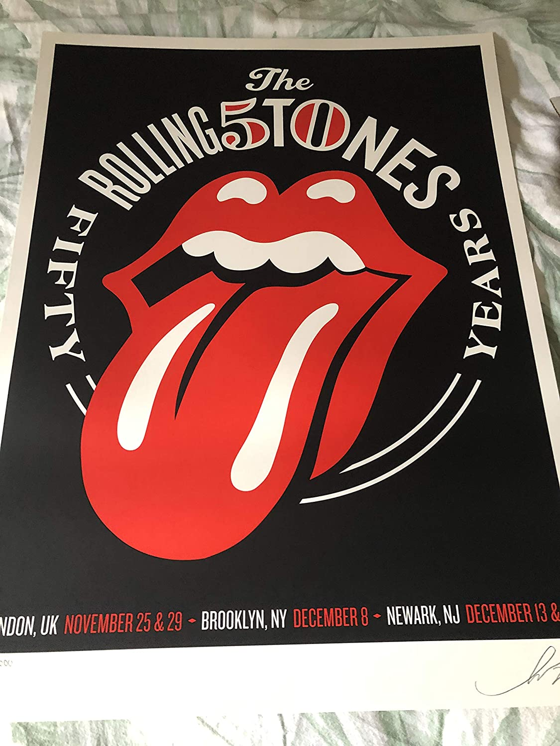 Rolling Inexpensive Stones 50th Anniversary Poster Ori Shepard 638 Fairey Sale special price LE