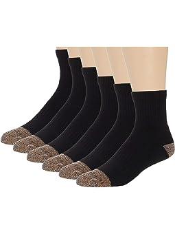 Carhartt Steel Toe Quarter Socks 6-Pack