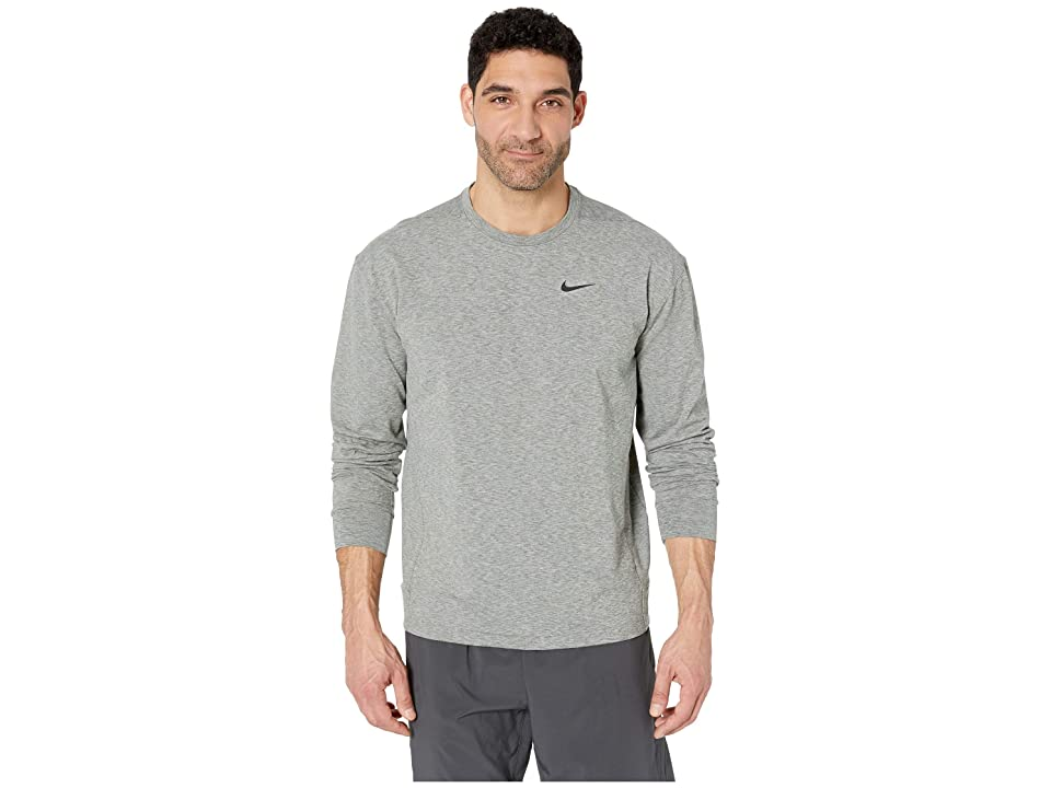 Nike Dry Top Long Sleeve Crew Hyperdry Transcend Lt (Mineral Spruce/Heather/Black) Men