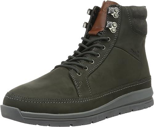Boxfresh Loadha UH LEA Herren Stiefel Schuhe E14956 grau Leder