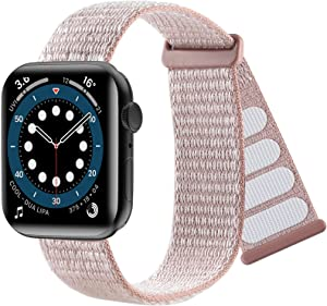 Premium Nylon Sport Loop Bands Compatible with Apple Watch Bands 38mm 40mm 41mm, Women Men Double-Layer Weave Adjustable Breathable Replacement Strap for iWatch Series SE 7 6 5 4 3 2 1