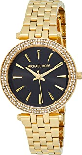 Women's Mini Darci Quartz Watch with Stainless-Steel Strap, Gold, 8 (Model: MK3738)