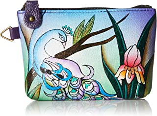 Hand Painted Leather Women's Coin Pouch