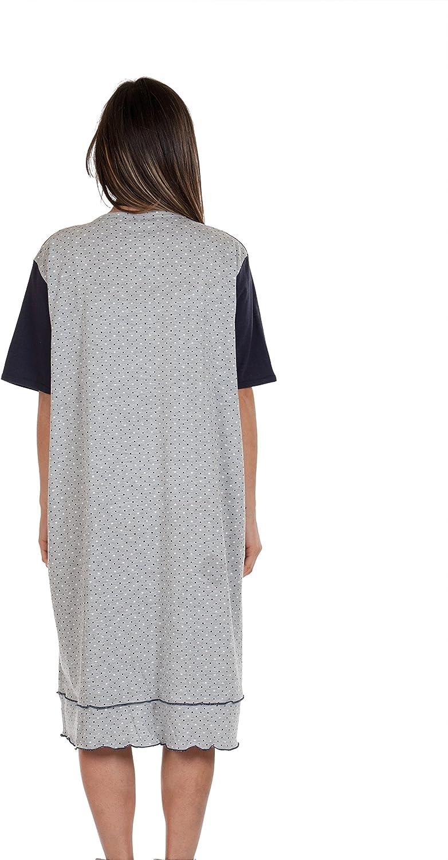 Chemise Clinique pour maternit/é Ouvert Robe Avant Coton Stretch Deux Sens Premamy pr/é-Post Partum