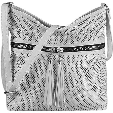 OBC Damen Tasche Shopper Schultertasche Umhängetasche City Crossover Crossbody Henkeltasche Bag Beuteltasche Kunst-Leder