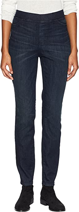 Organic Cotton Soft Stretch Denim Jeggings in Utility Blue