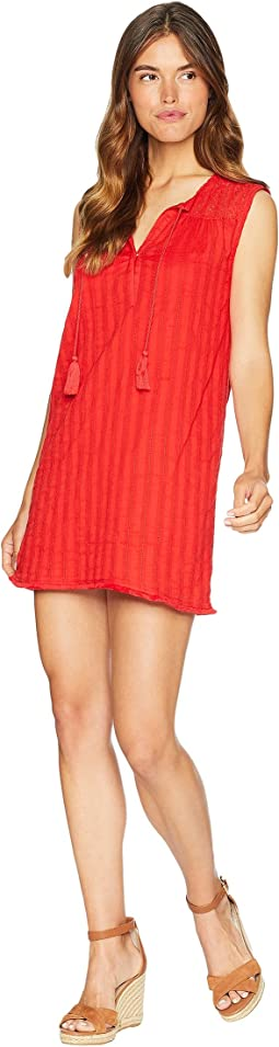Braided Stripe with Lace Mix Shift Dress