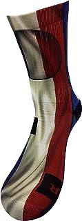STYLE FOREVER, Bandera de Francia Calcetines con Diseño Motivo Hecho a Mano Calcetines de impresión 3D para Baloncesto Voleibol Tenis Fitness Golf Ciclismo Balonmano Respirable Coolmax Calcetines deportivos