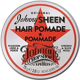 Johnny's Chop Shop Original Sheen Men's Hair Pomade Strong & Slick Hold, Moisturizing Oil Blend, Long Lasting High Shine B...