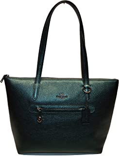coach metallic green bag