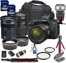 Canon EOS 6D Mark II DSLR Camera Bundle w/Canon EF 24-105mm f/3.5-5.6 is STM Lens + Tamron 70-300mm f/4-5.6 Telephoto Lens + 2pc PROSPEED 16GB Memory Cards + Premium Accessory Bundle Kit (18 Items)