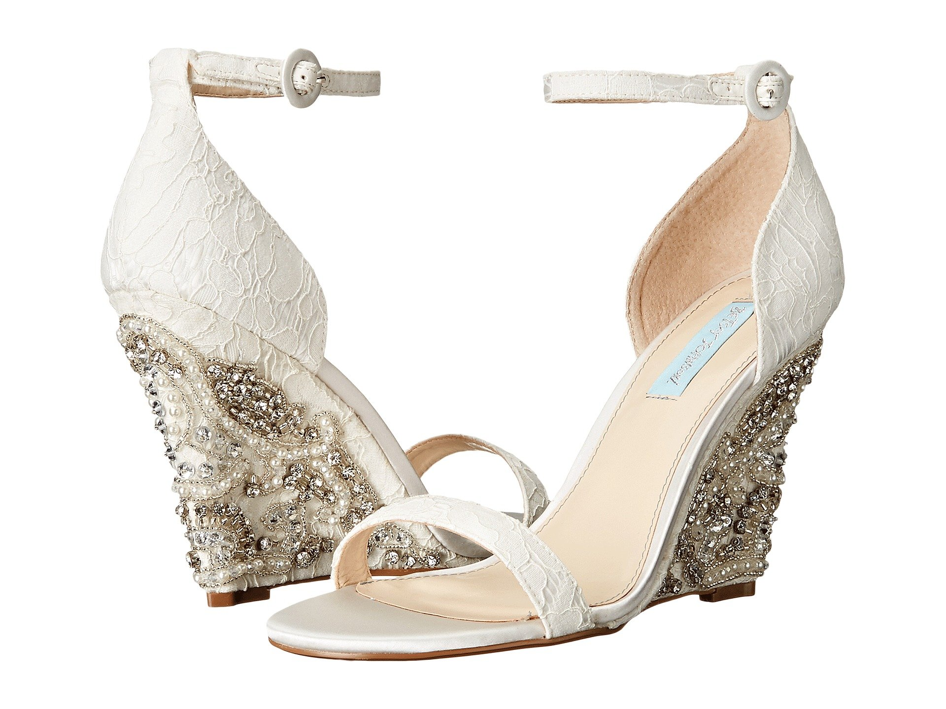 wedding shoes wedge blue by betsey johnson alisa at zappos 1135