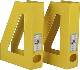Acrimet Magazine File Holder (Yellow Color) (2 Pack)