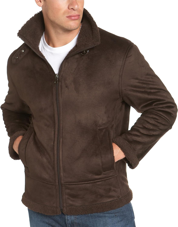 Marc New York Men's Faux Shearling Aviator Jacket