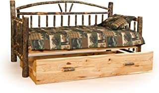 Furniture Barn USA Rustic Hickory Day Bed with Trundle- Amish Made