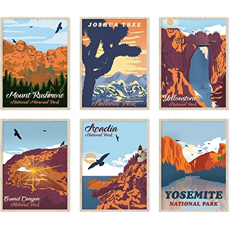 National Park Wall Art By Anderson Design Group 4 Piece Wrapped Canvas Gallery Wall Set 11 X14 Home Kitchen