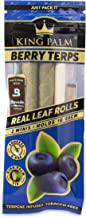 King Palm Flavors Mini Size Cones - 1 Pack, 2 Rolls Terpene Infused - Squeeze & Pop Pre Rolls - Organic Flavored Pre Rolle...