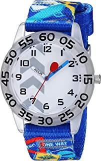 Red Balloon Boys Stainless Steel Analog-Quartz Watch with Nylon Strap, Blue, 16 (Model: WRB000151