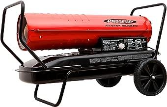 Pro-Temp PT-175T-KFA 175,000 BTU Kerosene/Diesel Forced Air Heater w/Thermostat, Red/Black