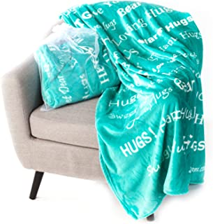 Blankiegram Hugs Blanket The Perfect Caring Gift (Teal)