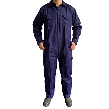 Turners Mens Work Overalls Coveralls Boilersuit Navy - Warehouse Garages Students workerwear Suit