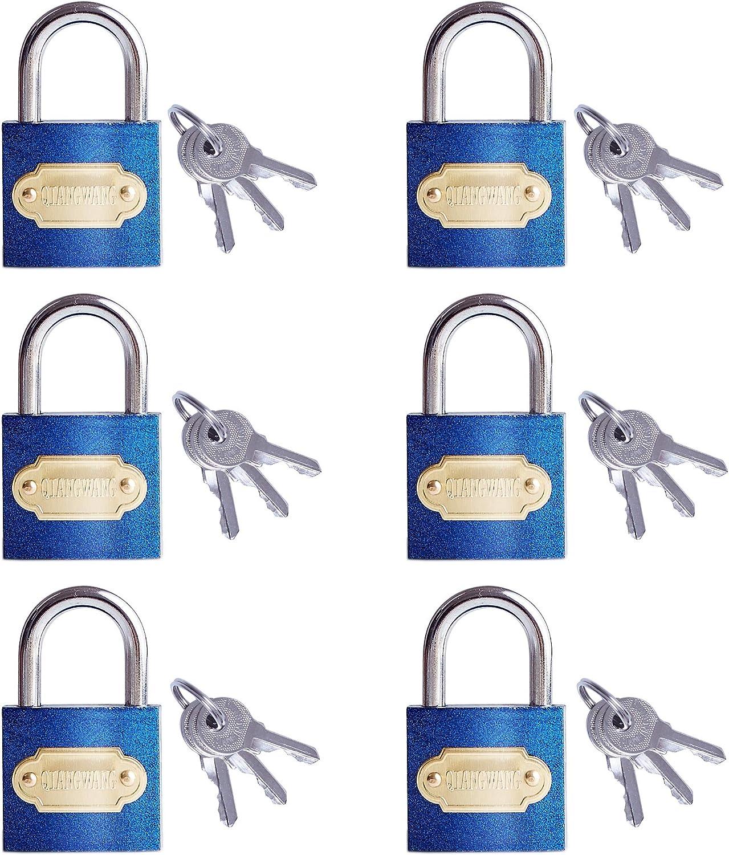 Keyed Alike Padlocks 6 Pack 100% Luxury goods quality warranty 30mm Miini with Small 3 f Locks Keys