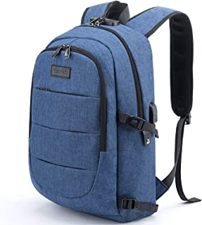 Tzowla Business Laptop Backpack Water Resistant Anti-Theft College Backpack with USB Charging Port and Lock 15.6 Inch Comp...