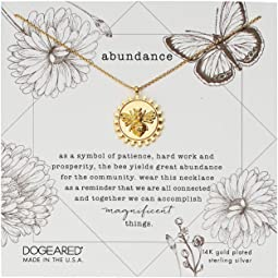 Abundance, Decorative Bee Disc Necklace