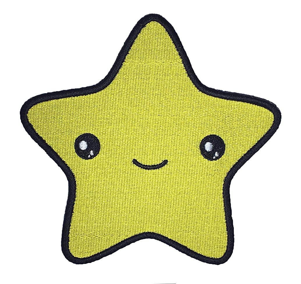 Cute Star Face Kawaii Sew On Embroidered Patch