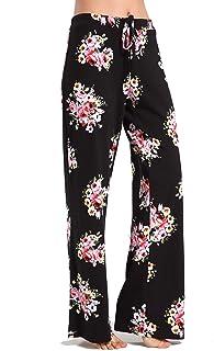 Aiklik Women's Casual Stretch Cotton Pajama Pants Simple Lounge Pants