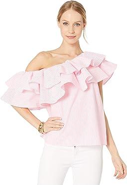 Havana Pink Yarn-Dye Seersucker
